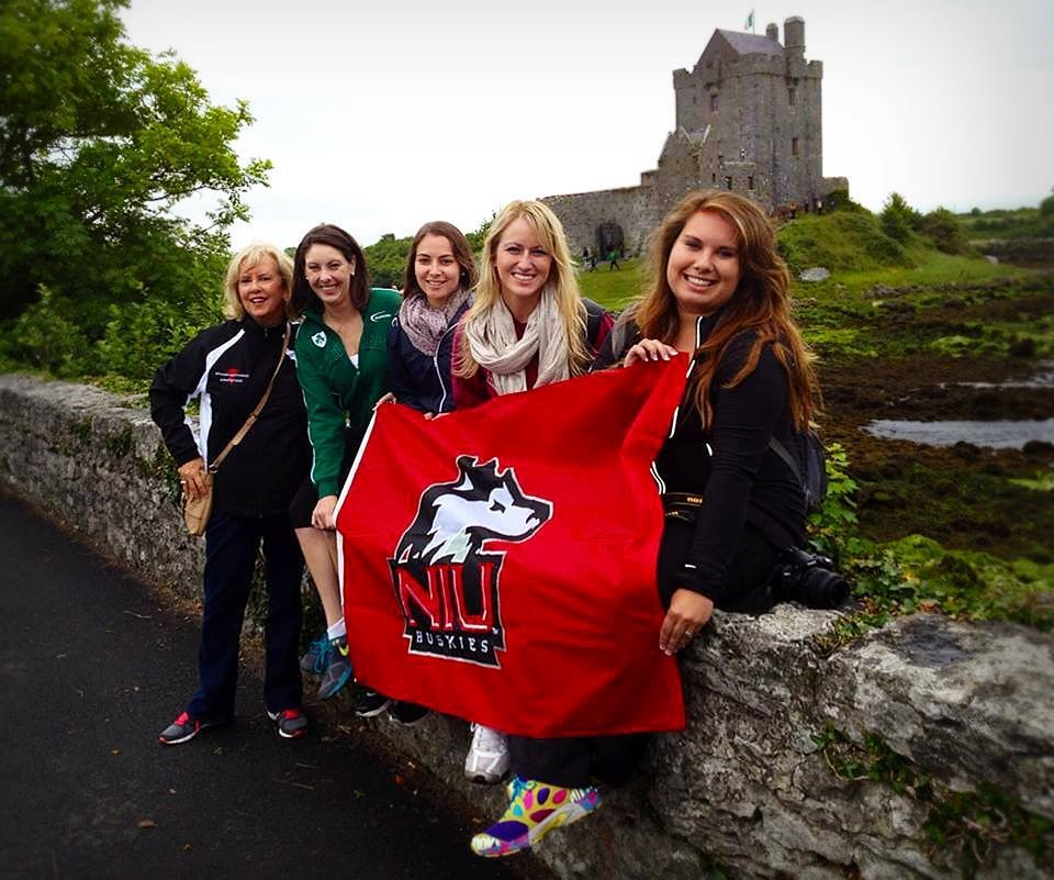 Members of the NIU School of Nursing in Ireland.